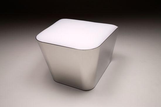 Mozzarella Chair del designer Tatsuo Yamamoto.