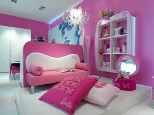 Un interno della Barbie Suite del Grand Hotel Savoia di Cortina d'Ampezzo.
