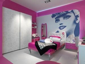 La Cameretta della Barbie Suite del Grand Hotel Savoia di Cortina d'Ampezzo.