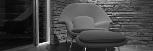 La Womb chair, poltrona del 1948 disegnata da Eero Saarinen per Knoll.