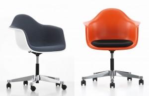 La versione PACC rende la Plastic Armchair una poltroncina girevole ideale per l'ufficio.