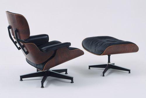La poltrona girevole Eames Lounge Chair del 1956. (Herman Miller)