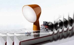 Con le sue misure 14x14x20 cm, Binic è una lampada versatile e pratica. (Foscarini)
