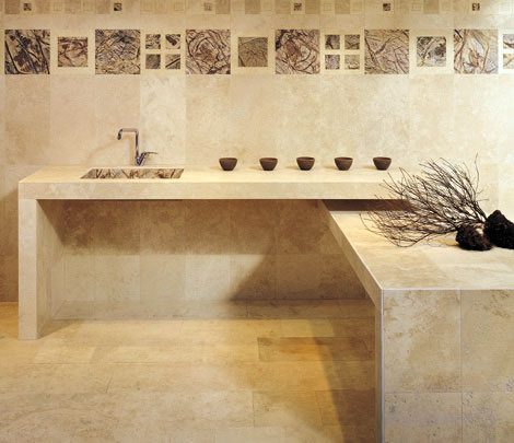 Casa moderna roma italy sassi per rivestimenti interni - Sassi decorativi per interni ...