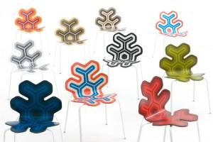 Nanook: Diverse composizioni di colori per le geometrie che decorano la seduta. (Moroso)