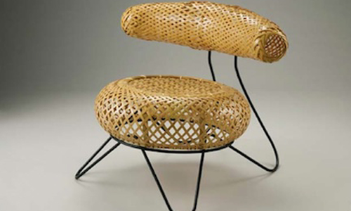 Bamboo Basket Chair
