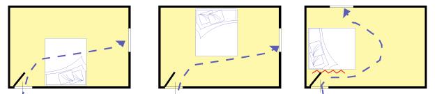 Feng shui disposizione ottimale per il letto arredativo - Posizione letto feng shui ...