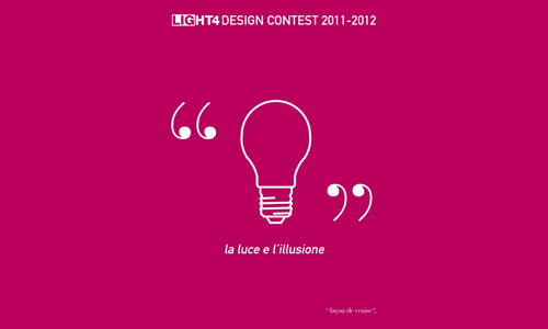 Light4 Design Contest 2011-2012 Façon de Venise: la luce e l'illusione