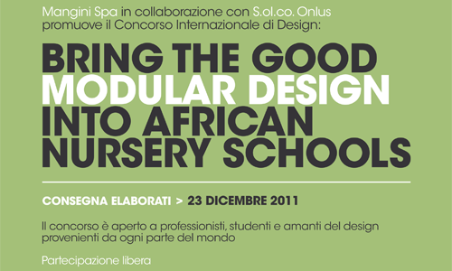 Bring the good modular design into African nursery schools