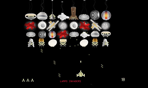 Lamps invaders di Devis Boscaratto