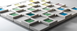 Dent Cube di Inax versione sabbia con vetrino