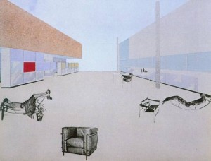 Le Corbusier, Charlotte Perriand and Pierre Jeanneret, Photo-collage on the Equipment intérieur d'une habitation installation , 1929