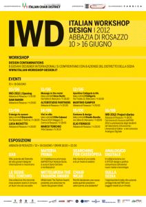 Italian Workshop Design 2012