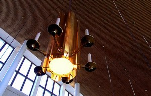 Interni e particolari dell'Illuminazioni nella Chiesa di Helsinki