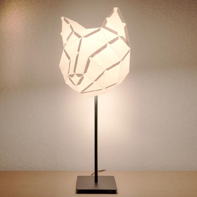 Lampada di Carta Gatto