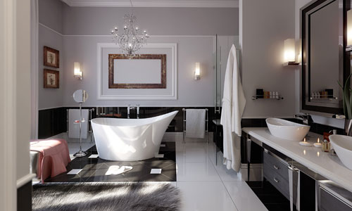Modern-glamorous-bathroom-stainless-beautiful-chandelier-(1)