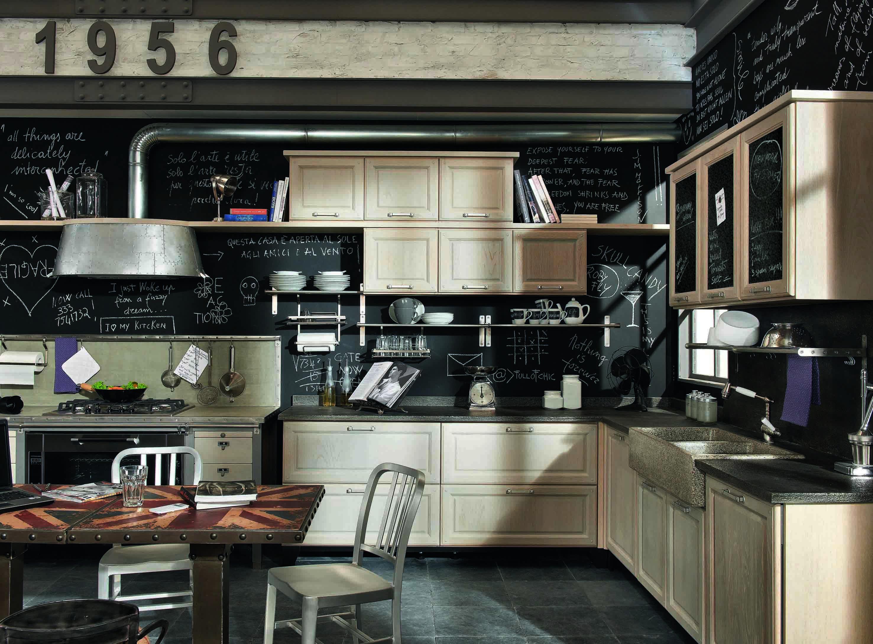 MARCHI CUCINE Veste Vintage! Arredativo Design Magazine #836A48 2953 2177 Arredo Cucina Stile Industriale