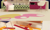 teen-bedroom-wardrobe-and-pink-desk-color-ful-floor-decoration-615x767
