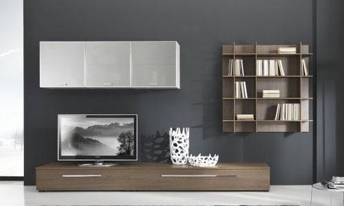 Colori per la parete attrezzata arredativo design for Parete attrezzata bianca e nera