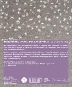 'Hand in hand', vendita benefica Warli per Care&Fair