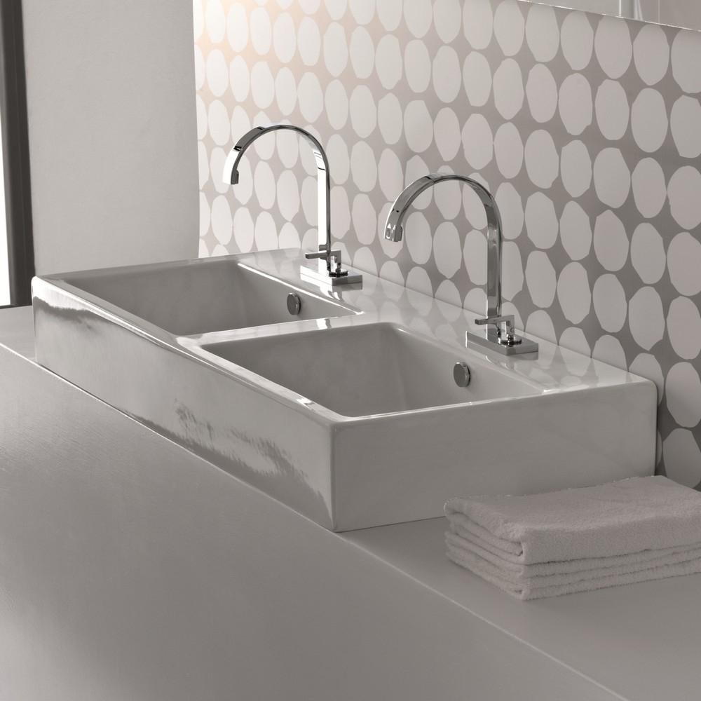 La casa per due il bagno arredativo design magazine - Lavabi doppi per bagno ...