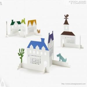 "Calendar 2014 ""Town"" by Katsumi Tamura"
