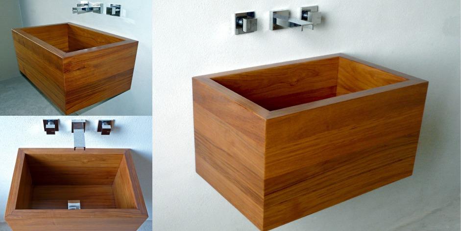 Woodwash lavabi in legno arredativo design magazine - Vasche da bagno su misura ...