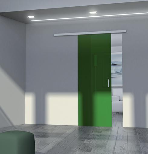 Soluzione Verde di Urban, nuova Porta in Vetro di Cristal