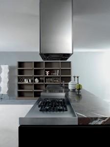Aura lo spazio dei contenitori può accogliere libri, tv o hi-fi. (Ego Design)