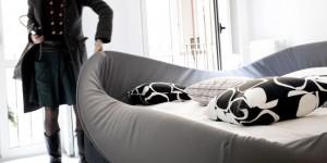 Il letto Col-letto con il suo sistema sfoderabile. (Lago)