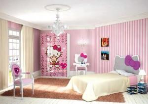 Una soluzione rosa per la cameretta da ragazze firmata Hello Kitty. (CIA International)