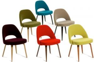 Per Side Chair vari colori per il tessuto di rivestimento della sedia di Saarinen. (Knoll)
