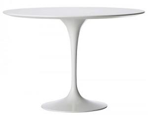 Dining Table o tavolo da pranzo laminato bianco.
