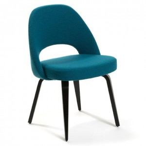 Side Chair con gambe in legno per Knoll International.