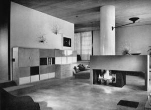 Interno di abitazione progettato da Eero Sarinen a L.A.
