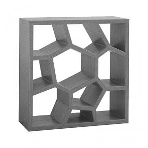 Opus Shelving: come un blocchetto modulare può essere utilizzato singolo o in gruppo insieme ad altro dello stesso colore e creando una trama ed una parete colorata.