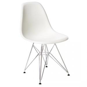Fiberglass Chair la cui linea ergonomica della seduta viene ripresa nella Wire Chair.
