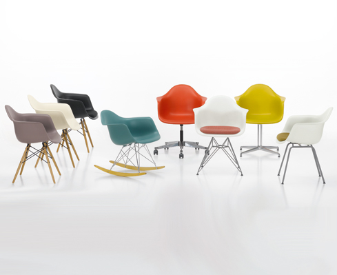Sedia A Dondolo Rar Eames : Plastic chair group arredativo design magazine