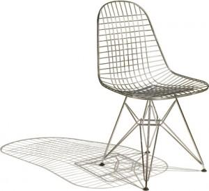 Con il loro uso innovativo del filo di acciaio gli Eames con la Wire Chair hanno creato un prodotto del tutto nuovo per l'epoca.
