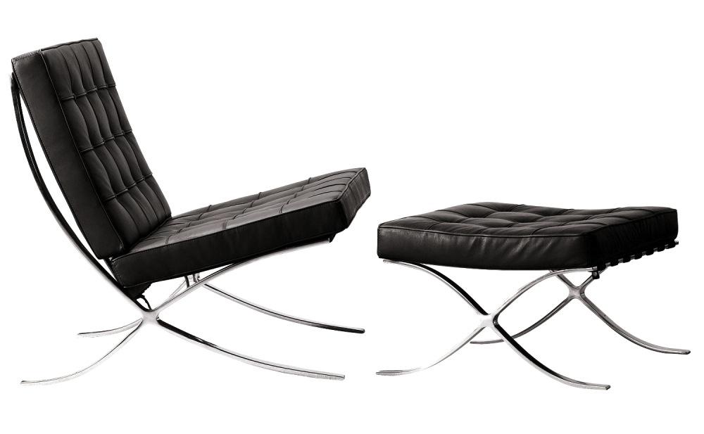 Barcelona chair stool arredativo design magazine - Mies van der rohe sedia ...