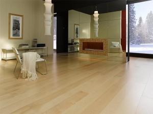 Pavimento in parquet realizzato con legno d'acero.