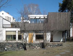La casa di Alvar Aalto nel Munkkiniemi di Helsinki: vista del