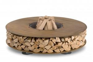 La parte centrale dove creare il focolare con la legna