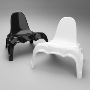 Époque Chair sedie in resina per esterni di Wybren van Keule.
