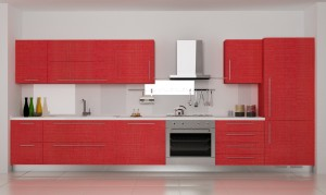 Cucina rinnovata rovere rosso effetto segato di Antarei