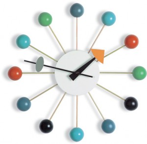 ball clock multi-colored orologio a parete (1947)
