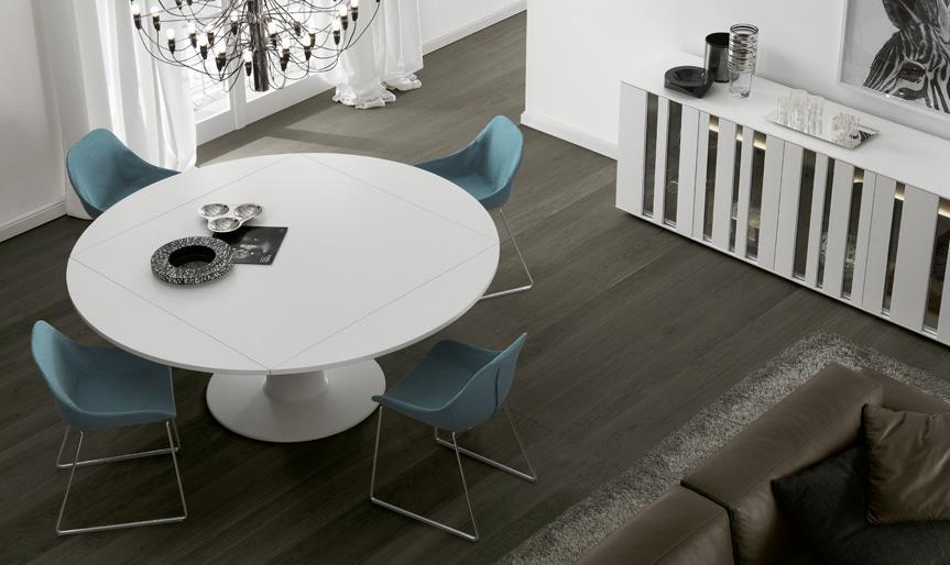 Soggiorno mobili contenitori chiusi arredativo design - Tavolo moderno sedie antiche ...