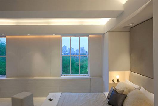 Camera da letto effetti con luce d 39 ambiente arredativo for Design luci interni
