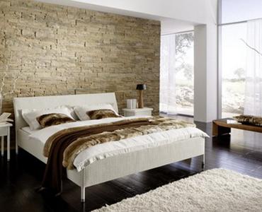 La pietra come testiera del letto arredativo design magazine - Letto matrimoniale a parete ...