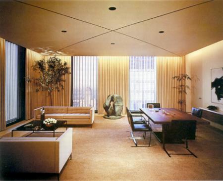 Florence Knoll Bassett ha progettato gli interni di Frank Stanton, della Columbia Broadcasting System, Inc., ufficio, New York, NY (http://mimomito.wordpress.com)